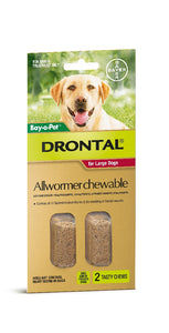 Drontal Dog All Wormer Chewable up to 35kg 2pack