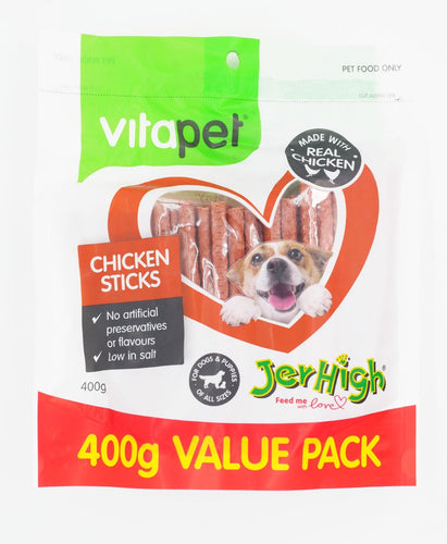Vitapet Jerhigh Chicken sticks 400g