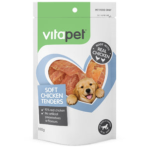 Vitapet Jerhigh Soft Chicken Tenders 100G