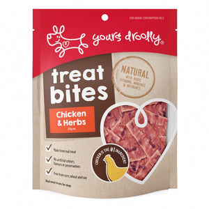 Yours Drooly Treat Bites Chicken & Herb 250G