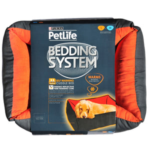 Purina Pet Life Self Warm Bed Red/Charcoal S/M