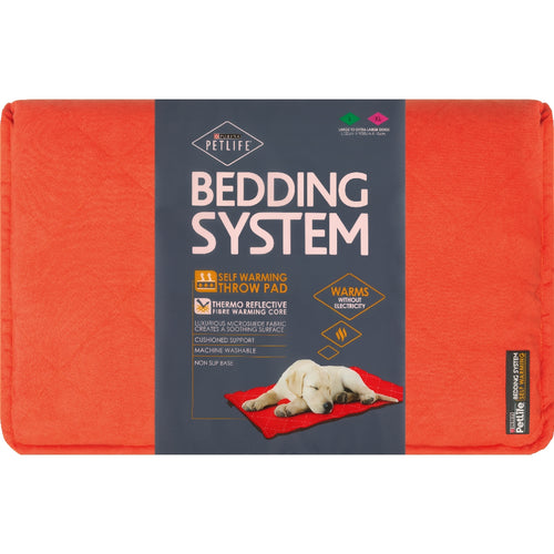 Purina Pet Life Self Warm Throw Pad Red/Charcoal L-XL