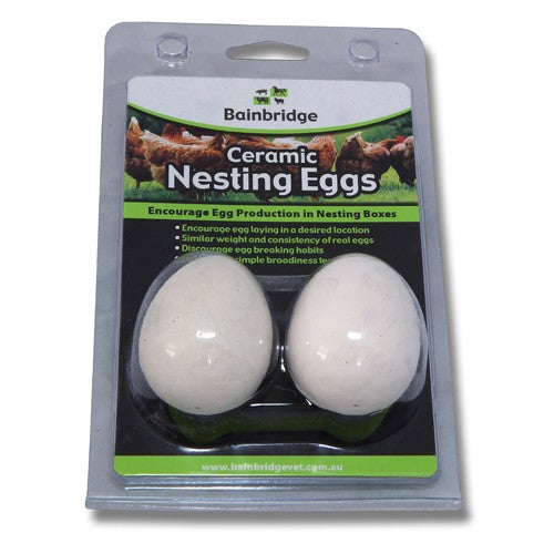 Nesting Eggs - Ceramic (Supplied in 2 Pack)