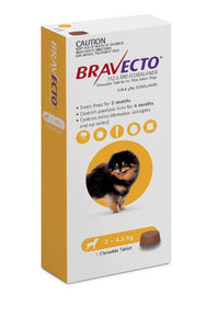 Bravecto Flea & Tick 2-4.5kg 1 Pk Chewable