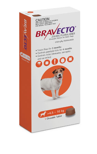 Bravecto Flea & Tick 4.5-10kg 1 Pk Chewable