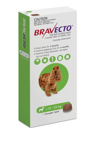Bravecto Flea & Tick 10-20kg 1pk Chewable