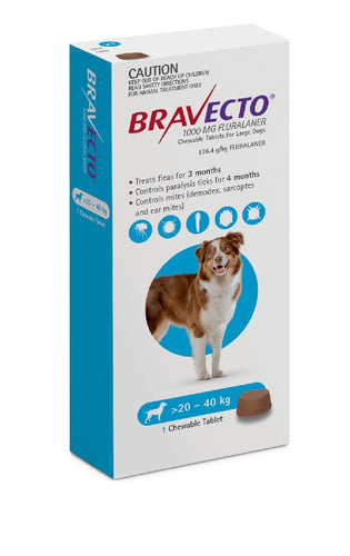 Bravecto Flea & Tick 20-40kg 1pk Chewable