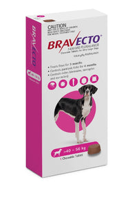 Bravecto Flea & Tick 40-56kg 1 Pk Chewable