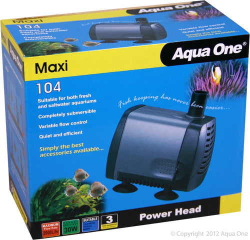 Aqua One Maxi 104 Powerhead 2000 ltr per hour