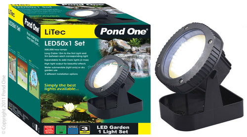 Pond One Litec LED 50x1 Garden Light Set Single & Transformer