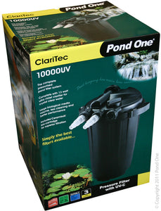 Pond One ClariTec 10000UV pressurised Filter with 13watt Ultra Violet Clarifier
