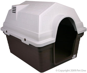 Pet One Plastic Kennel Large Chocolate *Available in store or free local deliver only*