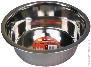 Pet One Bowl StandardStainless Steel 1.75 Ltr