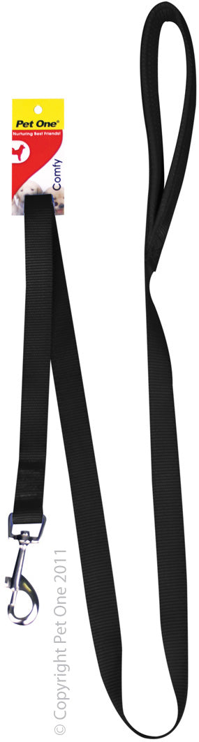 Pet One Padded Leash Black