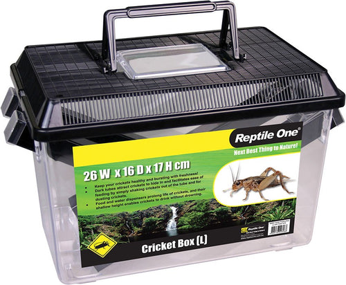 Repti One Cricket Holding Box (L) With Feed Tube