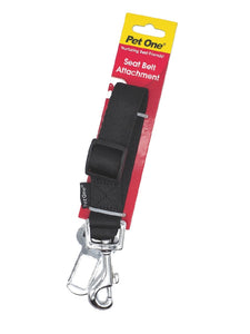 Travelling with dogs? Get the Pet One Seat Belt Attachment to secure them safely - We Know Pets
