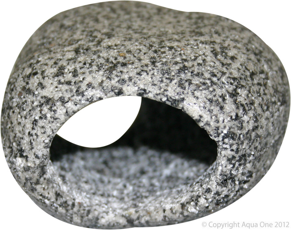 Aqua One Ornament Cave Round (S) 9.5cm x 8.5cm x 5.3cm Granite