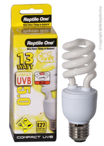 Repti One Compact UVB Bulb 13W UVB 5.0 E27 Fitting