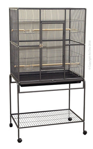 Avi One Cage 604X Square Flight Cage 82cm L X 52cm W X 154cm H Black*Available in store or free local deliver only
