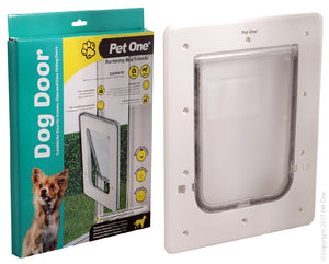 Pet One Dog Door for glass and screen doors dogs up to 9kg small