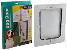 Pet One Dog Door for glass and screen doors dogs up to 16kg medium