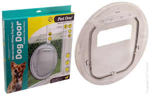Pet One Dog Door for single  double glazed doors dogs up to 18kg