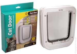Pet One Cat Door Four way Locking (wooden doors)