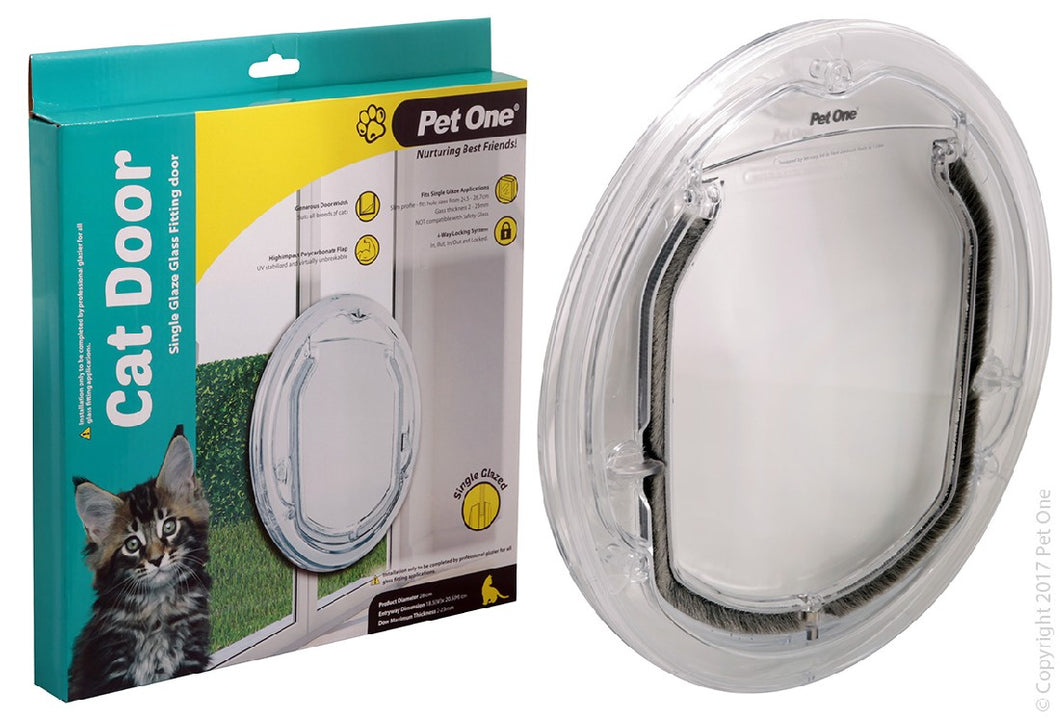 Pet One Cat Door for single and double glazed doors