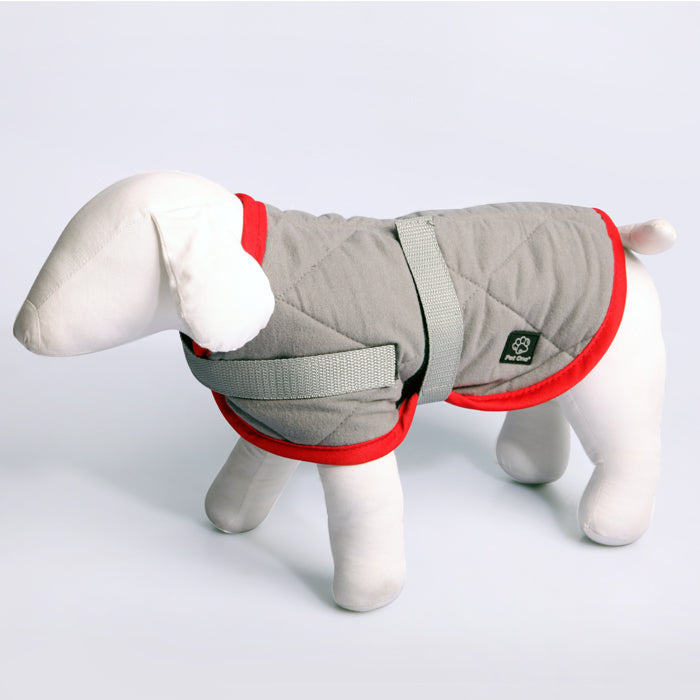 Pet One Dog Coat Night Sleeper Grey Red
