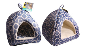 Pet One Cat Cubby Cave Inca 47 X 47 X 47cm Indigo Blue