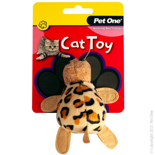 Pet One Cat Toy Plush Leopard Tortoise 10.5cm