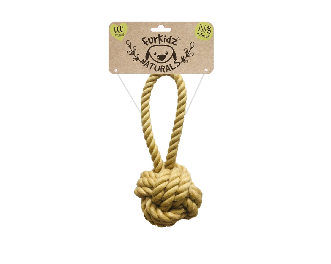 Natures Choice Jute Sling Ball Toy 16cm (85-95gm)
