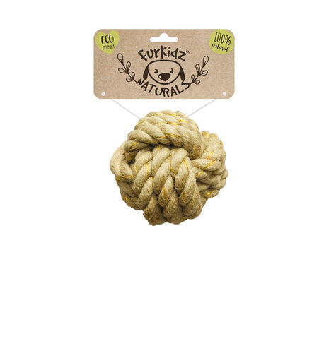 Natures Choice Jute Ball Toy 7cm (140-150gm)