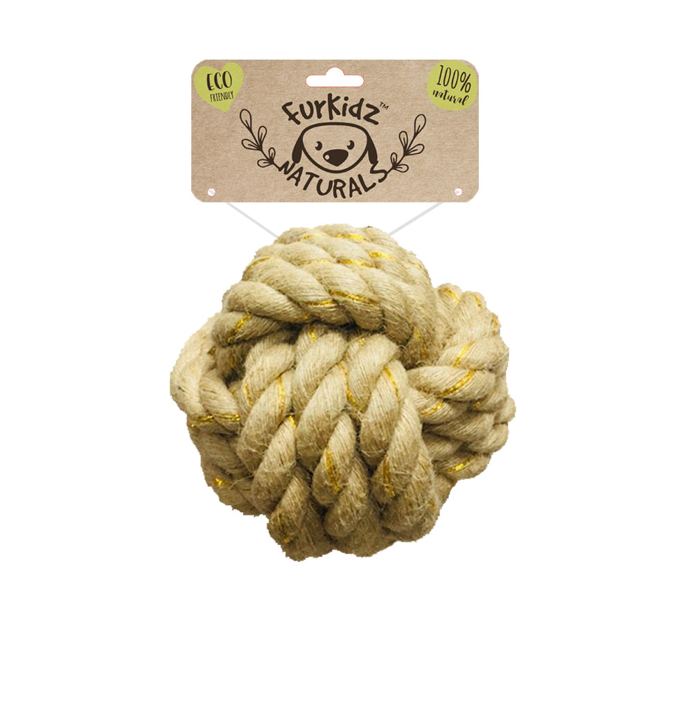 Natures Choice Jute Ball Toy 15cm (530-540gm)