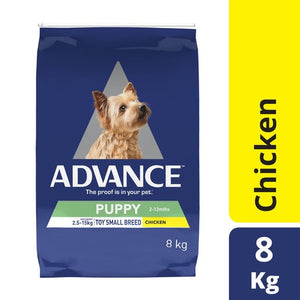 ADVANCE DOG PUPPY SMALL & TOY BRD 8KG