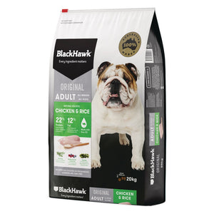 Black Hawk Adult Chick And Rice 20Kg