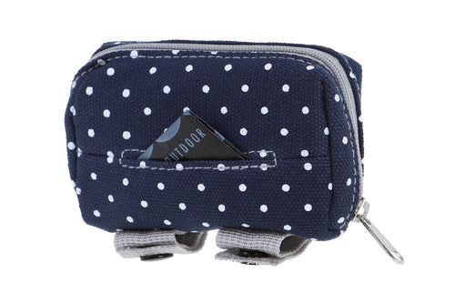 Doog Walkie Pouch - Stella - Polka Dot Blue With White Spot