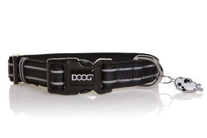 Doog Lassie Collar Black reflective stripe