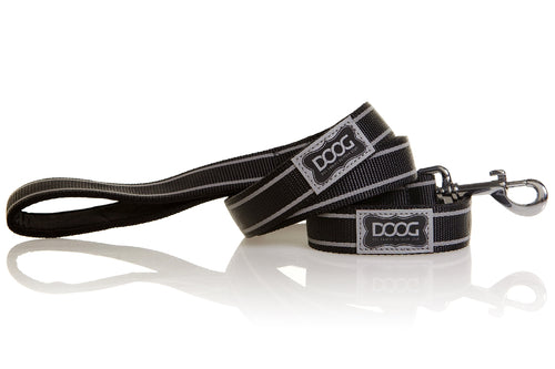 Doog Lassie Lead Black reflective stripe
