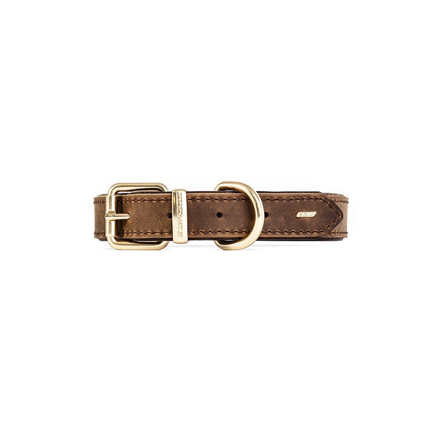 Ezy Dog Leather Collar Oxford Brown