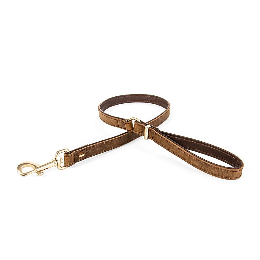 Ezy Dog Leather Lead Oxford Brown 42 inch