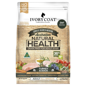 Ivory Coat Turkey & Duck Grain Free Dry Dog Food 2kg