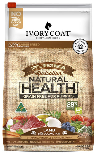 Ivory Coat Puppy large Breed Lamb & Coconut Oil 13kg
