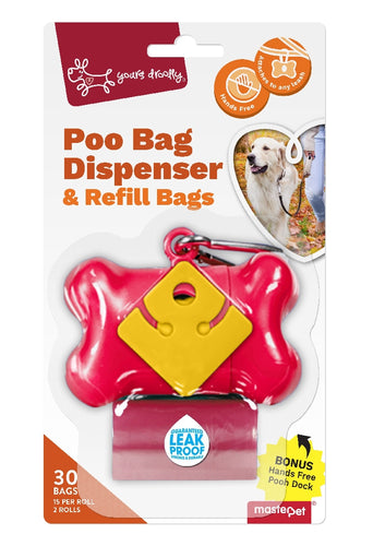 YD DISPENSER RED BONE W 30BAGS