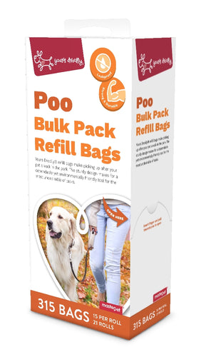 Yours Drooly Poo Bags Refill Red 315 pack