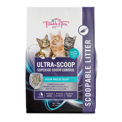 Trouble & Trix Ultra Scoop Cat Litter 10 ltr