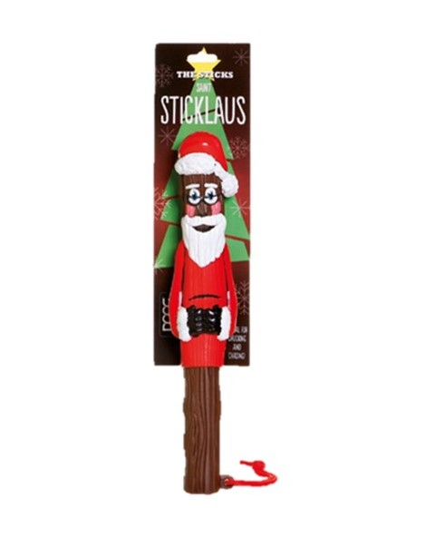Saint Sticklaus is Ideal as a Christmas gift for your dog or as a gift for a friend or neighbour.