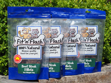 Fit 'n' flash Beef steak fillets 60gm 4 PACK BULK BUY