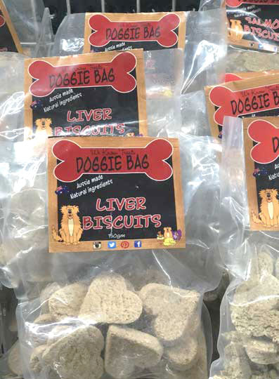 We Know Pets Doggie Bag liver flavour biscuits, all natural treat!