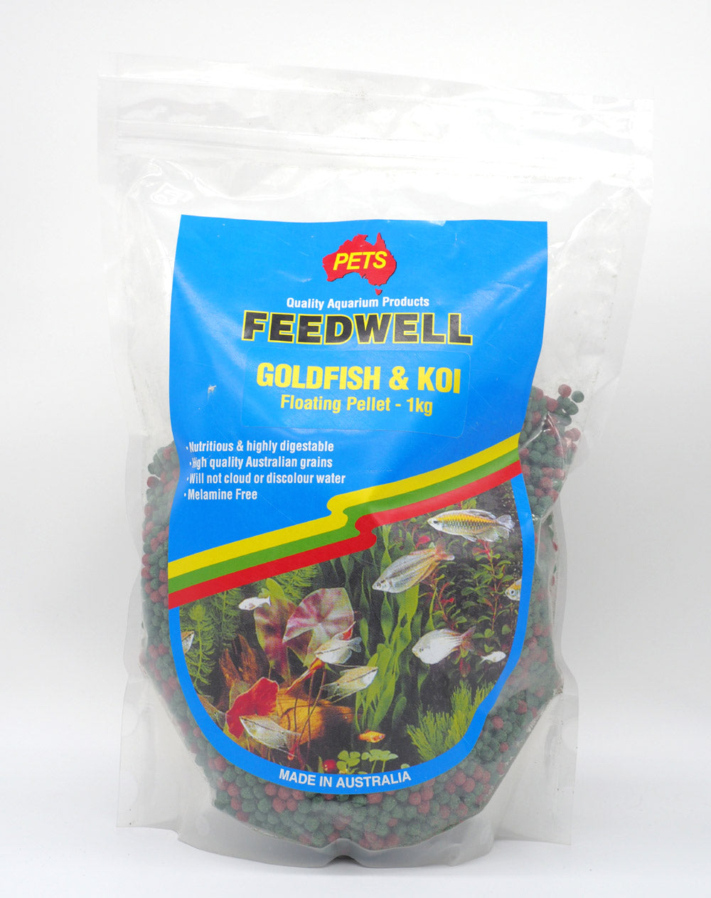 Feedwell Koi And Goldfish Pellets 1Kg Size Large